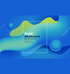 Abstract blue fluid background design vector