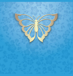 Abstract butterfly on elegant flower vector