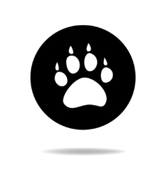 Animal dog paw black and white flat icon vector