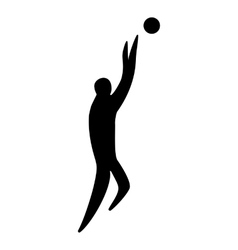 Athlete man basketball player silhouette vector image