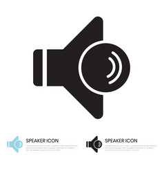 Audio speaker volume icon for apps and websites vector
