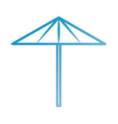 beach umbrella vacation protection tool vector image