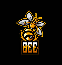 Bee esport gaming logo vector