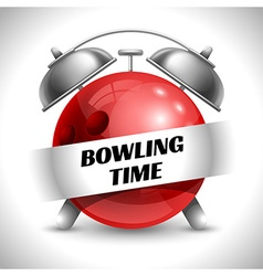 Bowling time vector image