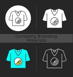 branded t shirt dark theme icon vector image