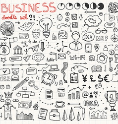 Business Doodle Element Set vector image
