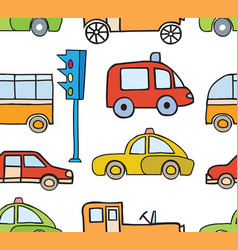 cartoon cars seamless vector image