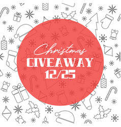 Christmas giveaway banner vector
