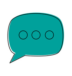 Conversation bubble icon image vector