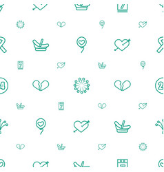 Day icons pattern seamless white background vector