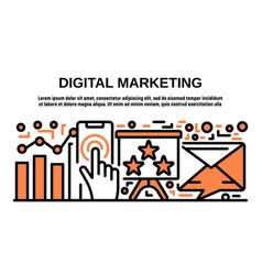 digital marketing banner outline style vector image