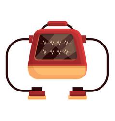 Disease defibrillator icon cartoon style vector