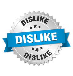 Dislike round isolated silver badge vector