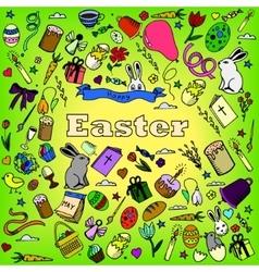 Easter design line art vector image