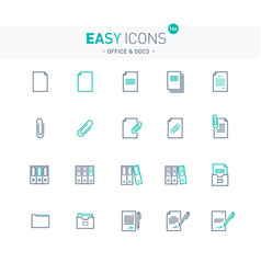 Easy icons 14e docs vector