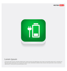 electric plug charging icon vector image