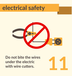 Electrical safety simple art poster vector