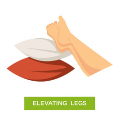 Elevating legs pillows pile comfort isolated icon vector