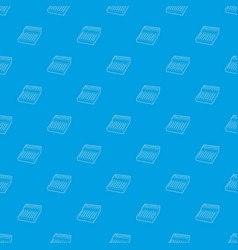 equalizer pattern seamless blue vector image