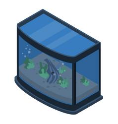 exotic aquarium icon isometric style vector image