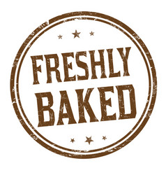 Freshly baked sign or stamp vector