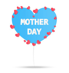 happy mother day paper style vintage card vector image