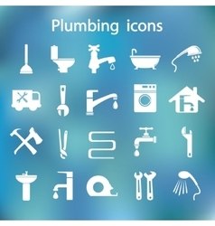Icons set Plumbing vector image vector image