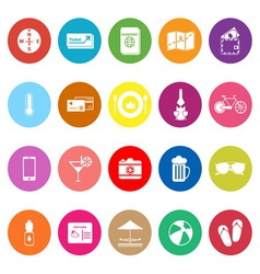 Journey flat icons on white background vector