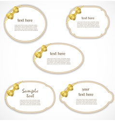 Labels with a bow vector image