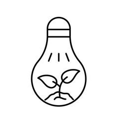 Led grow light logo black creative lightbulb vector