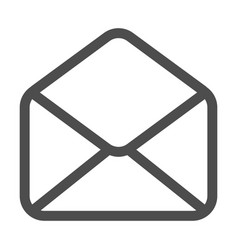 mail and e-mail icon isolated envelope symbol e vector image