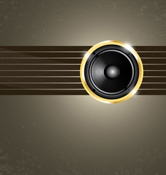 Modern music background vector