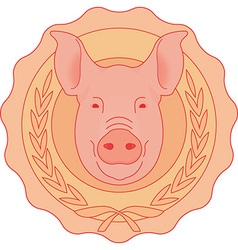 Mounted pig head vector