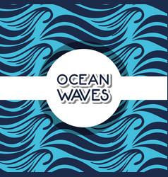 Natural ocean waves background design vector