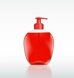 plastic bottle with a dispenser for liquid soap vector image