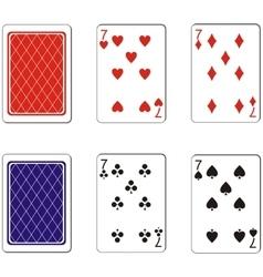 Playing card set 09 vector