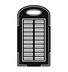 power bank solar panel icon simple style vector image
