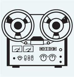 Reel tape recorder vector image