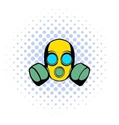 Respirator icon comics style vector