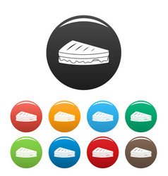 Sandwich icons set color vector