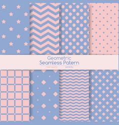 Set of 8 seamless geometric patterns vector