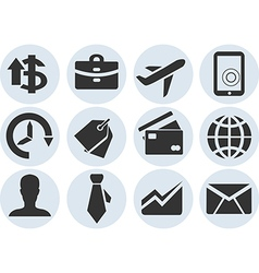 Set of business icons style material design vector