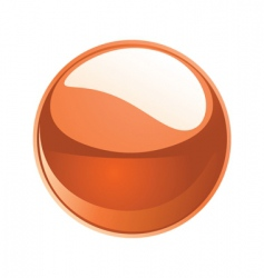 Shiny sphere 02 orange vector