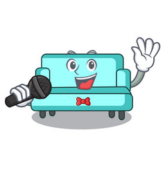 singing sofa mascot cartoon style vector image