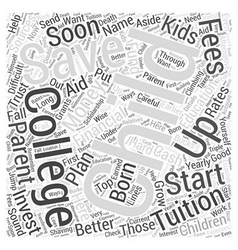 SM saving money on tuition fees Word Cloud Concept vector