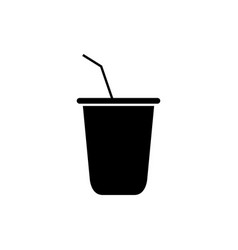 soda icon in on white background vector image
