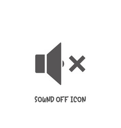 sound off icon simple flat style vector image
