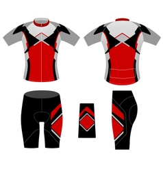 Sports cycling clothing vector