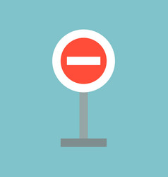 stop sign forbidden sign flat icon vector image