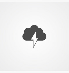 storm icon sign symbol vector image